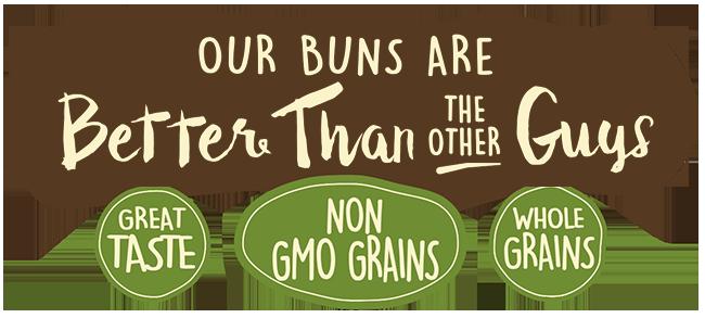 Great Taste, Non-GMO Grains, Whole Grains
